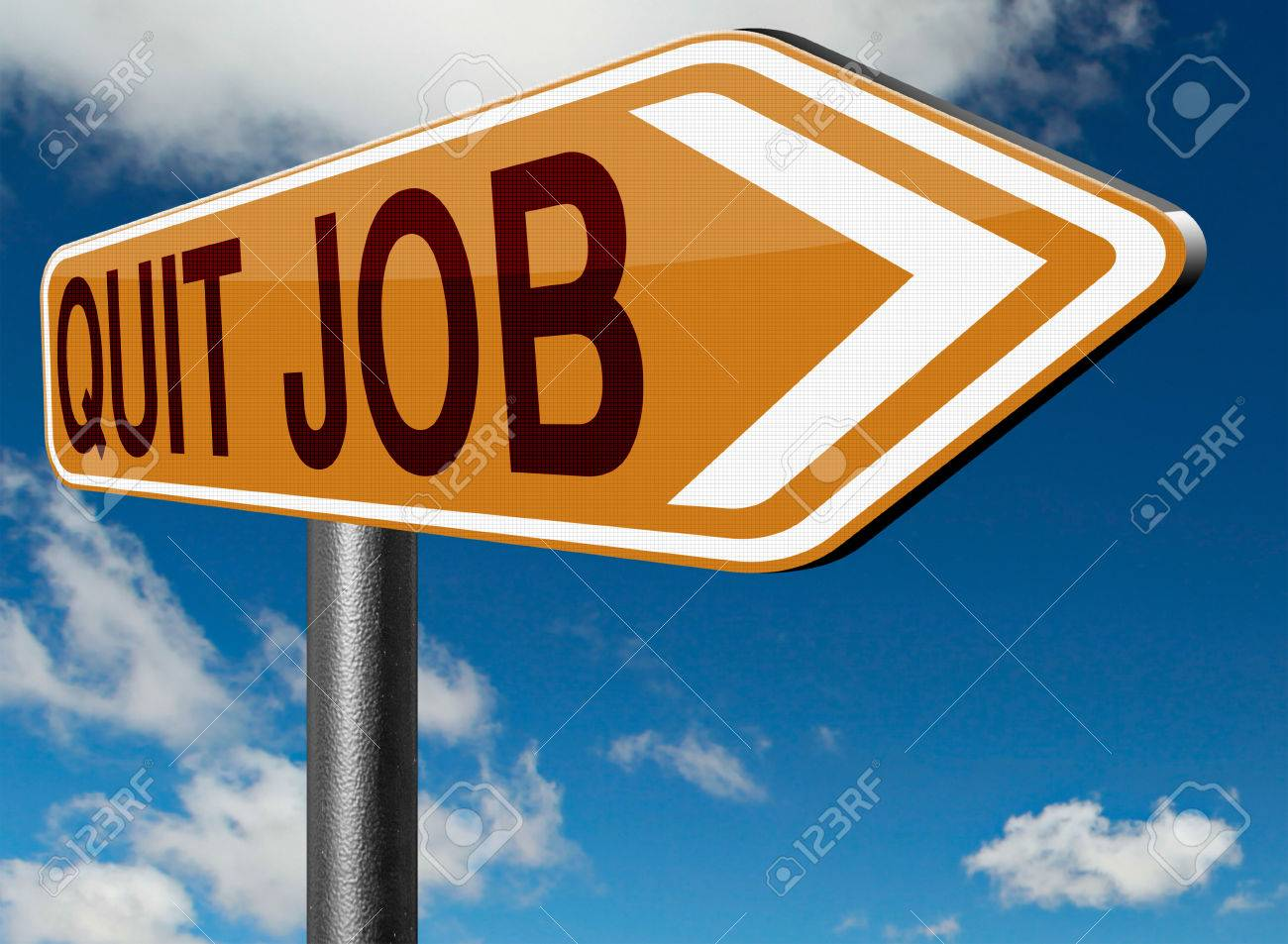 quit job career move road sign change profession resigning from stock photo quit job career move road sign change profession resigning from work and getting unemployed