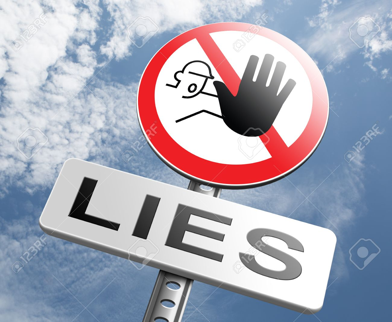 No More Lies Stop Lying Tell The Truth And Be Honest No Misleading.. Stock  Photo, Picture And Royalty Free Image. Image 40380191.
