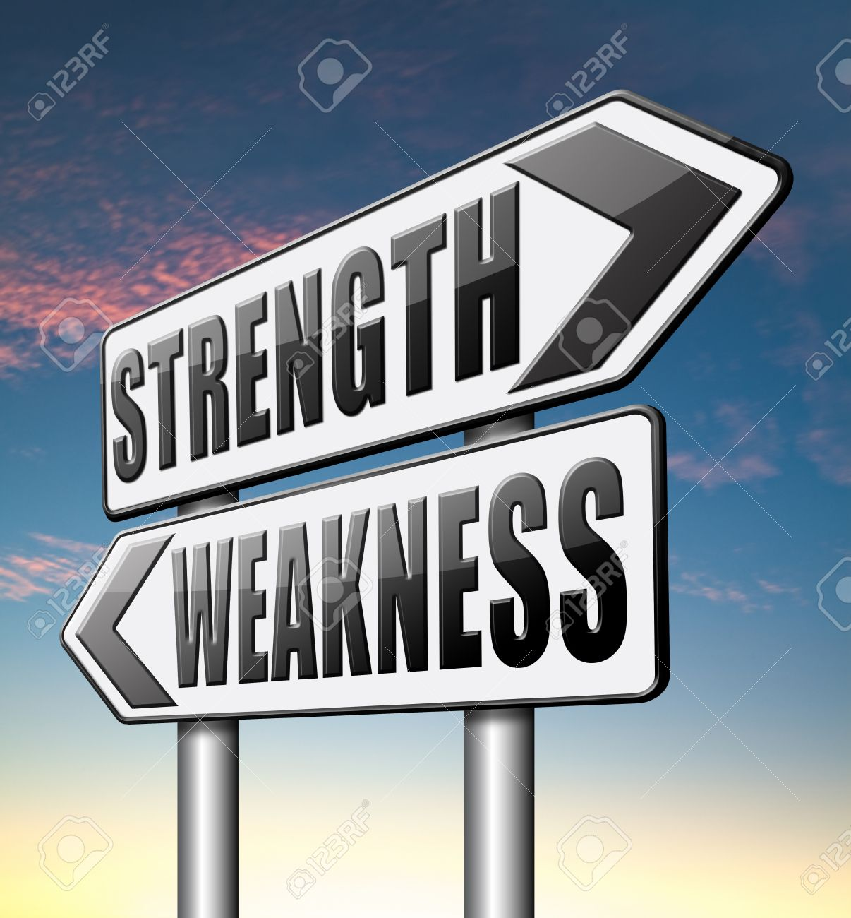 strength versus weakness overcome problems by being strong and stock photo strength versus weakness overcome problems by being strong and not weak accept the challenge to success