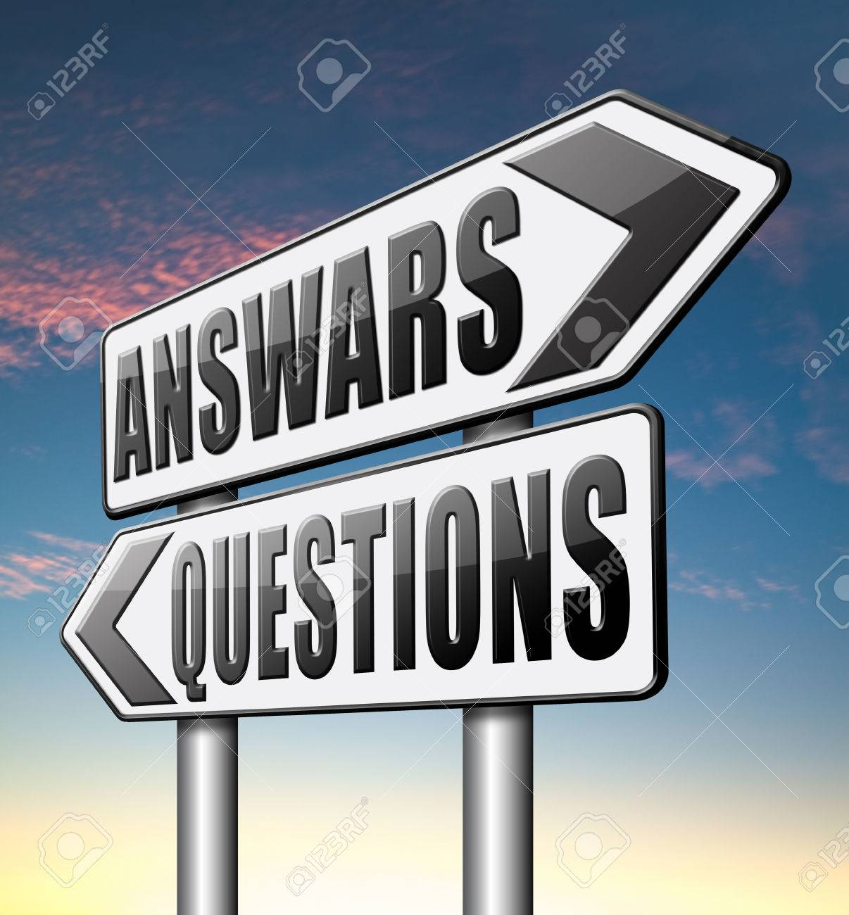 Stock Photo  Question Answer Ask The Right Questions And Get An Answers  Help Or Support Desk Solving Problems And Finding Solutions