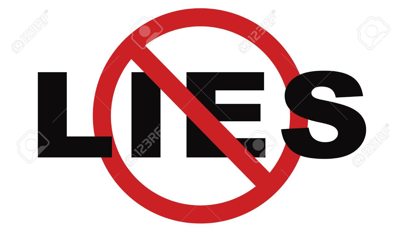 No More Lies Stop Lying Tell The Truth And Be Honest No Misleading.. Stock  Photo, Picture And Royalty Free Image. Image 44694661.
