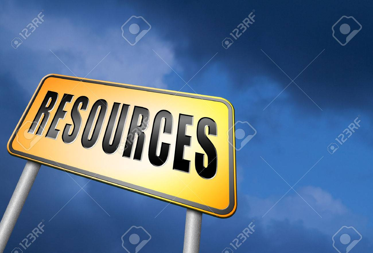 Resources road sign - 55320637
