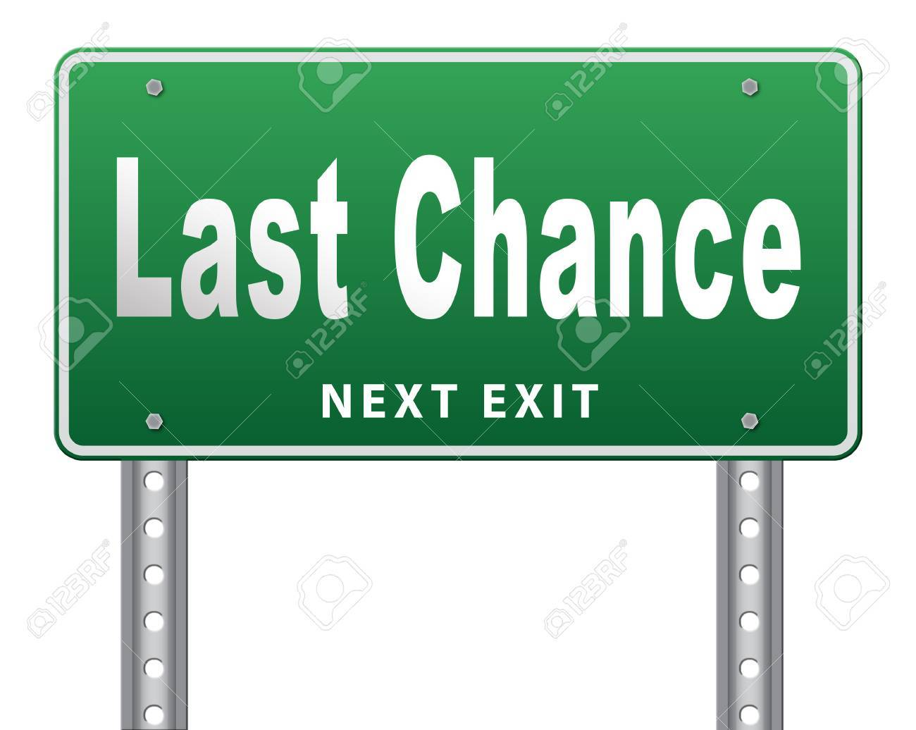 Last chance and final warning or opportunity, ultimate call now