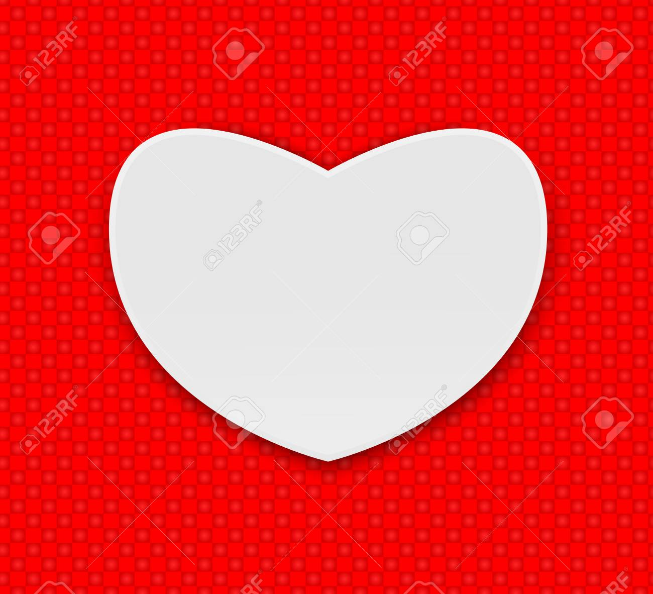 Valentines Day Heart Realistic Vector Illustrations Hearts On