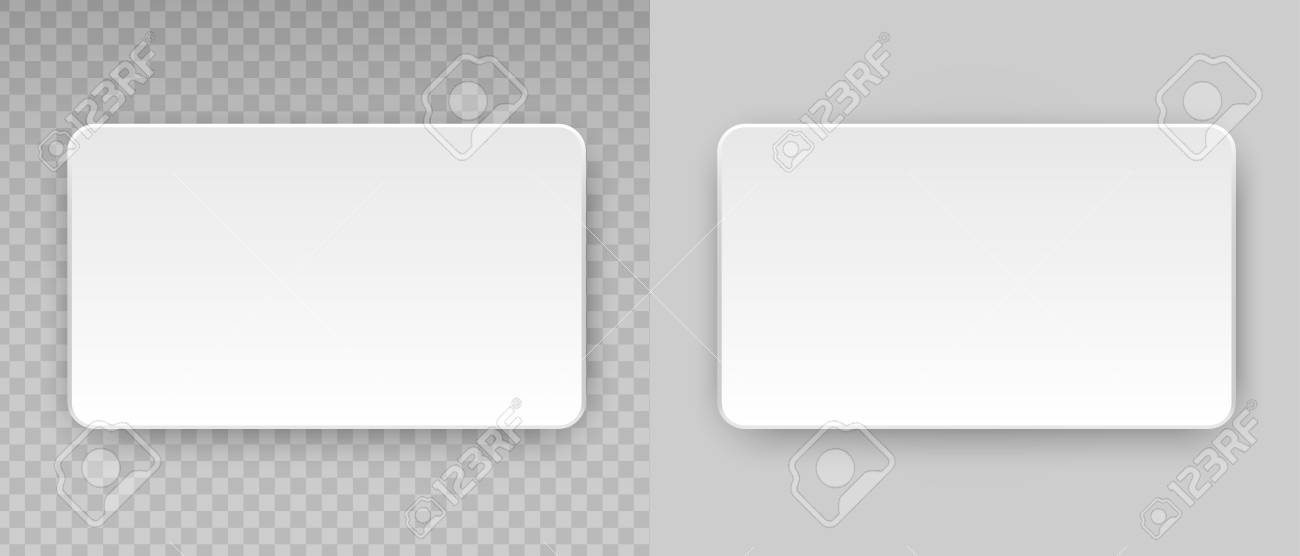 White blank horizontal plastic paper business card or name credit vector white blank horizontal plastic paper business card or name credit card template isolated on transparent background accmission Image collections