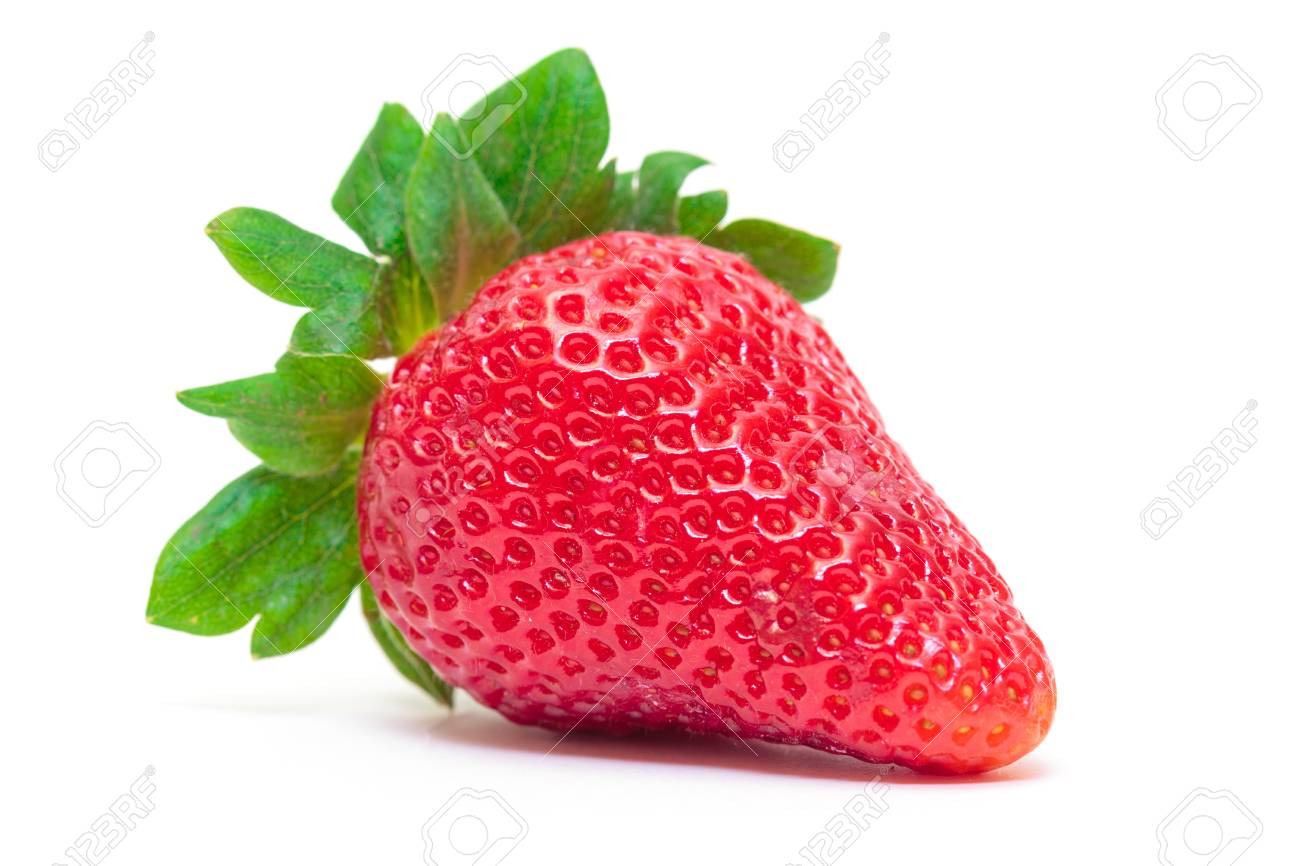 Ripe Berry Red Strawberry on white background, closeup Stock Photo - 18455835