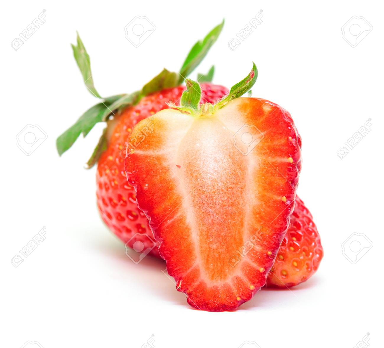 Ripe Berry Red Strawberry on white background Stock Photo - 18455842