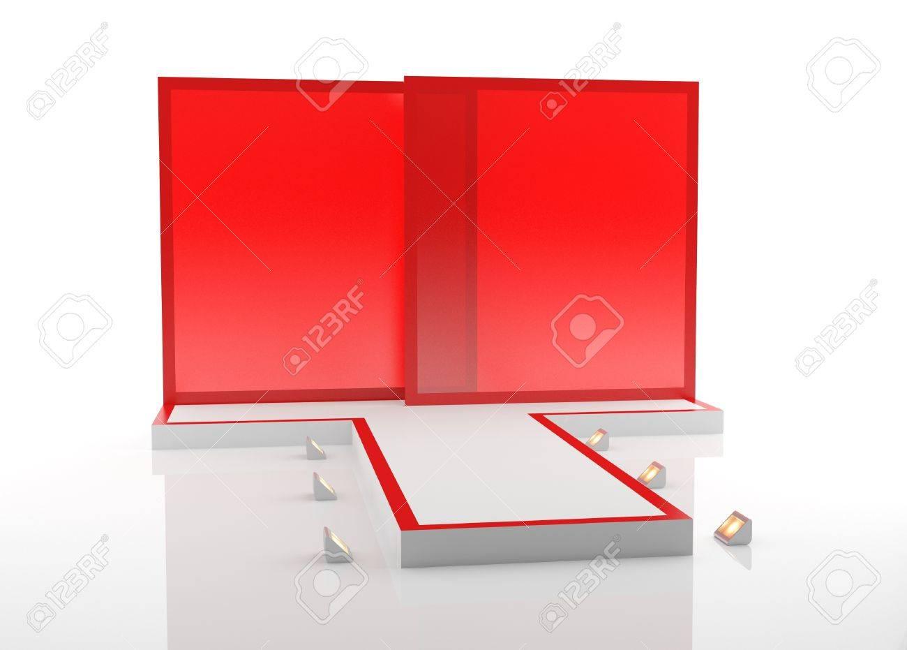 A red fashion podium for advertising Stock Photo - 10748676