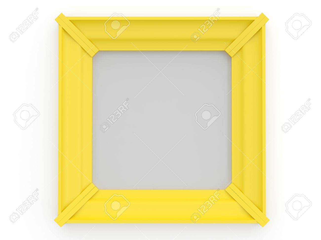 Picture Frame. 3D Model Stock Photo, Picture And Royalty Free Image ...