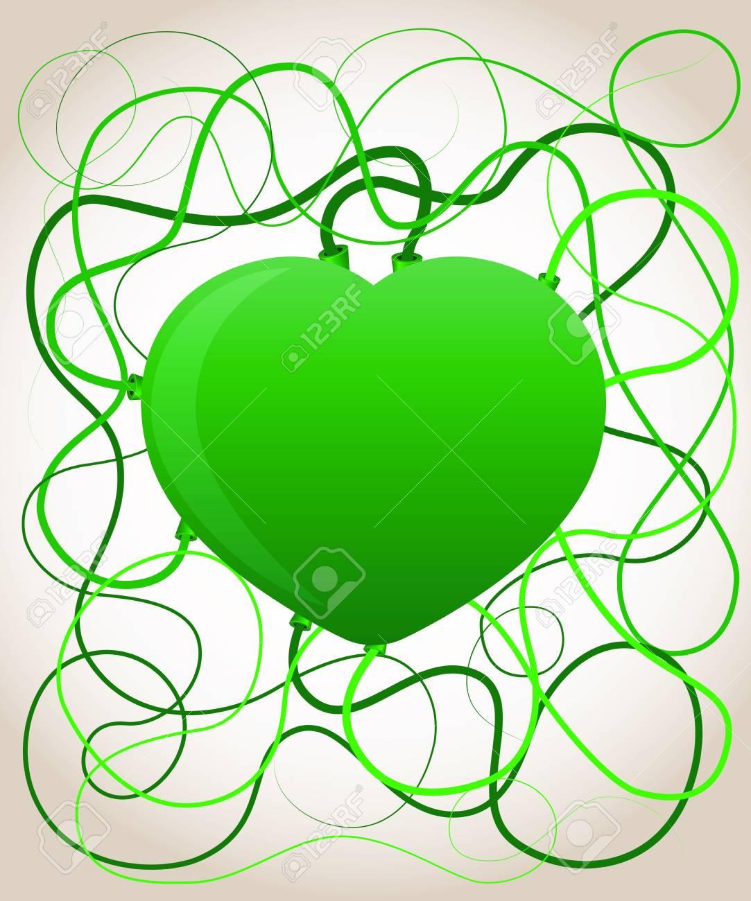 Green heart. Ecology concept. Stock Vector - 17179946