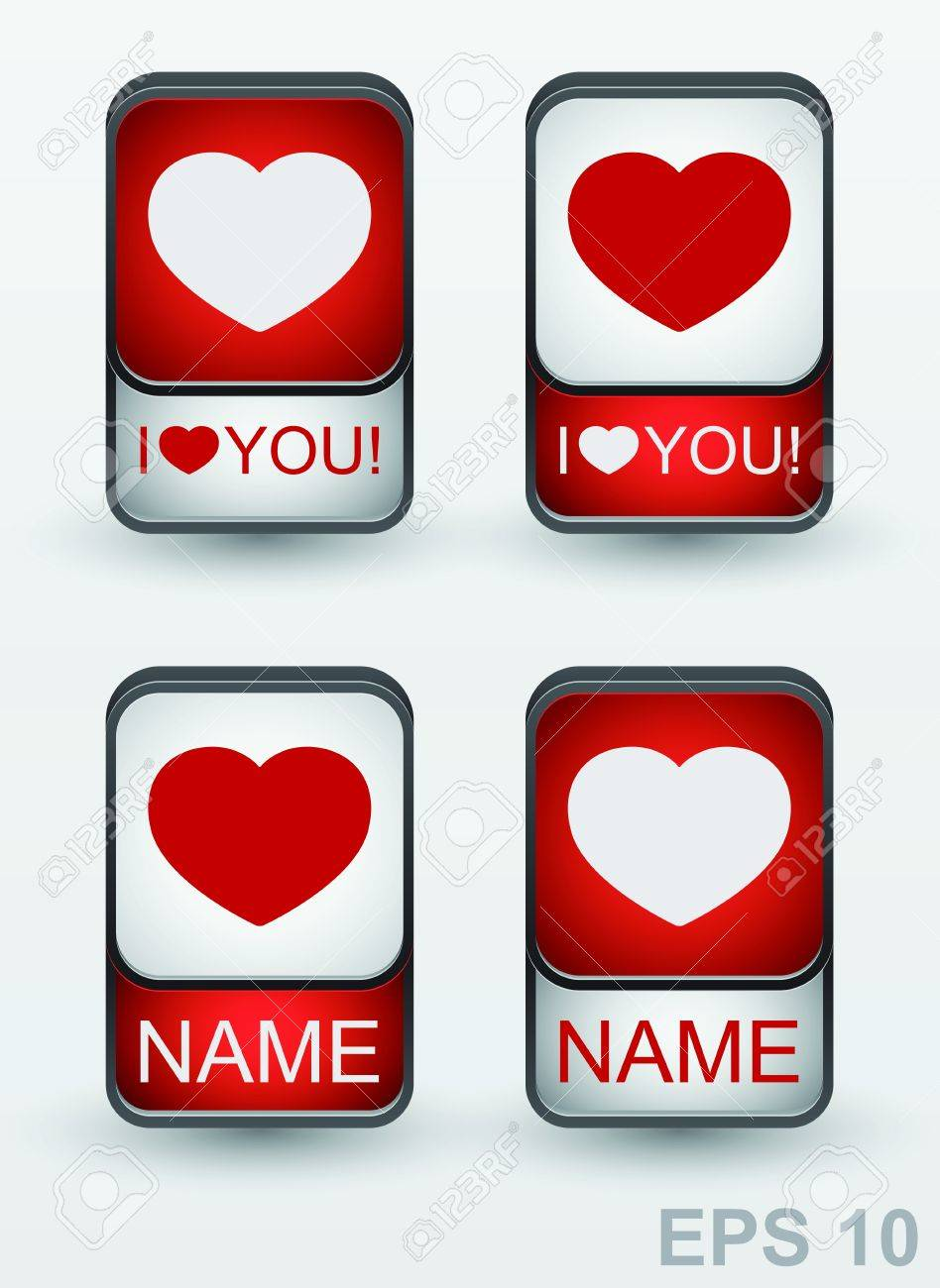 Heart Icon  Set of love signs Stock Vector - 17179959