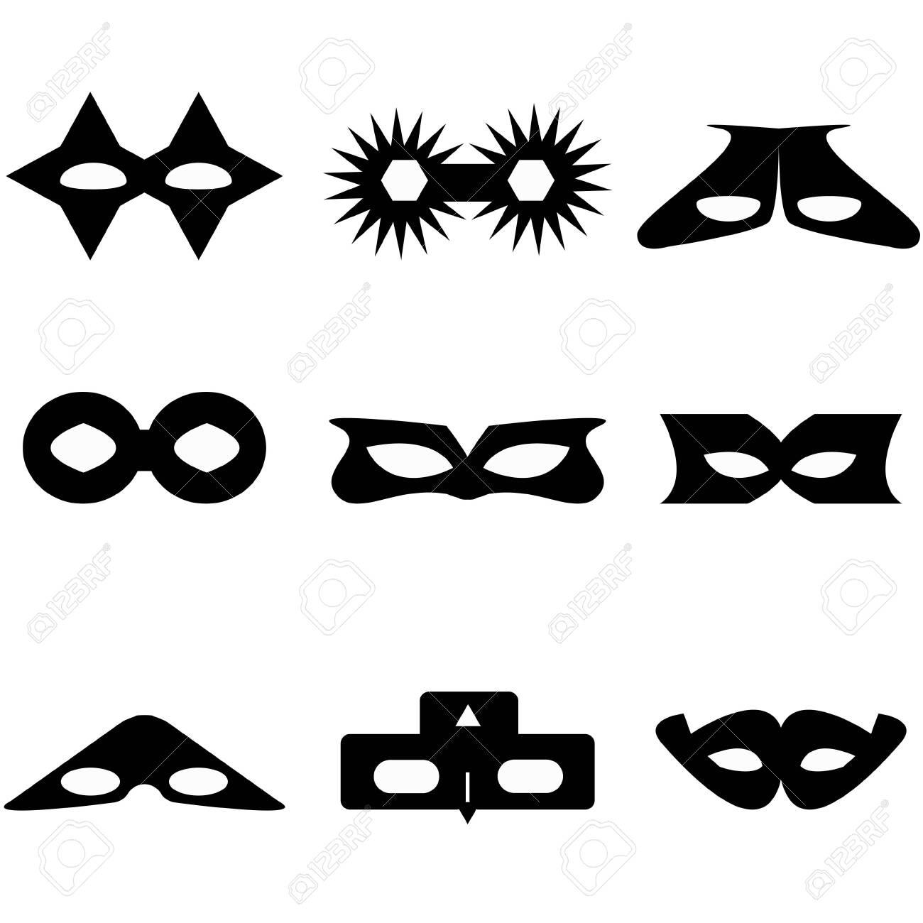 bandit or superhero mask - 124534031