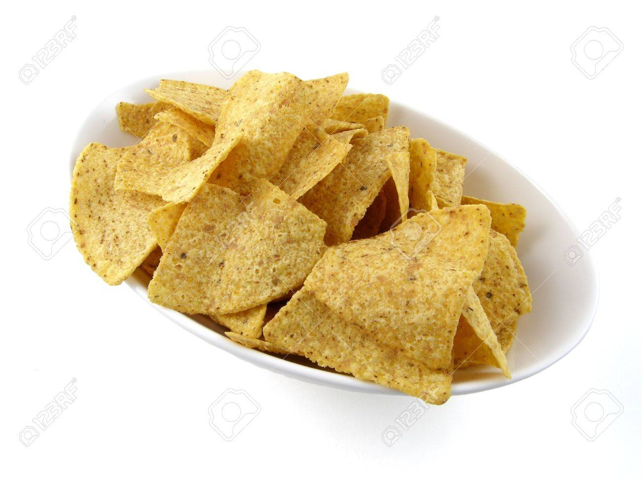 A bowl of tortilla chips Stock Photo - 628997