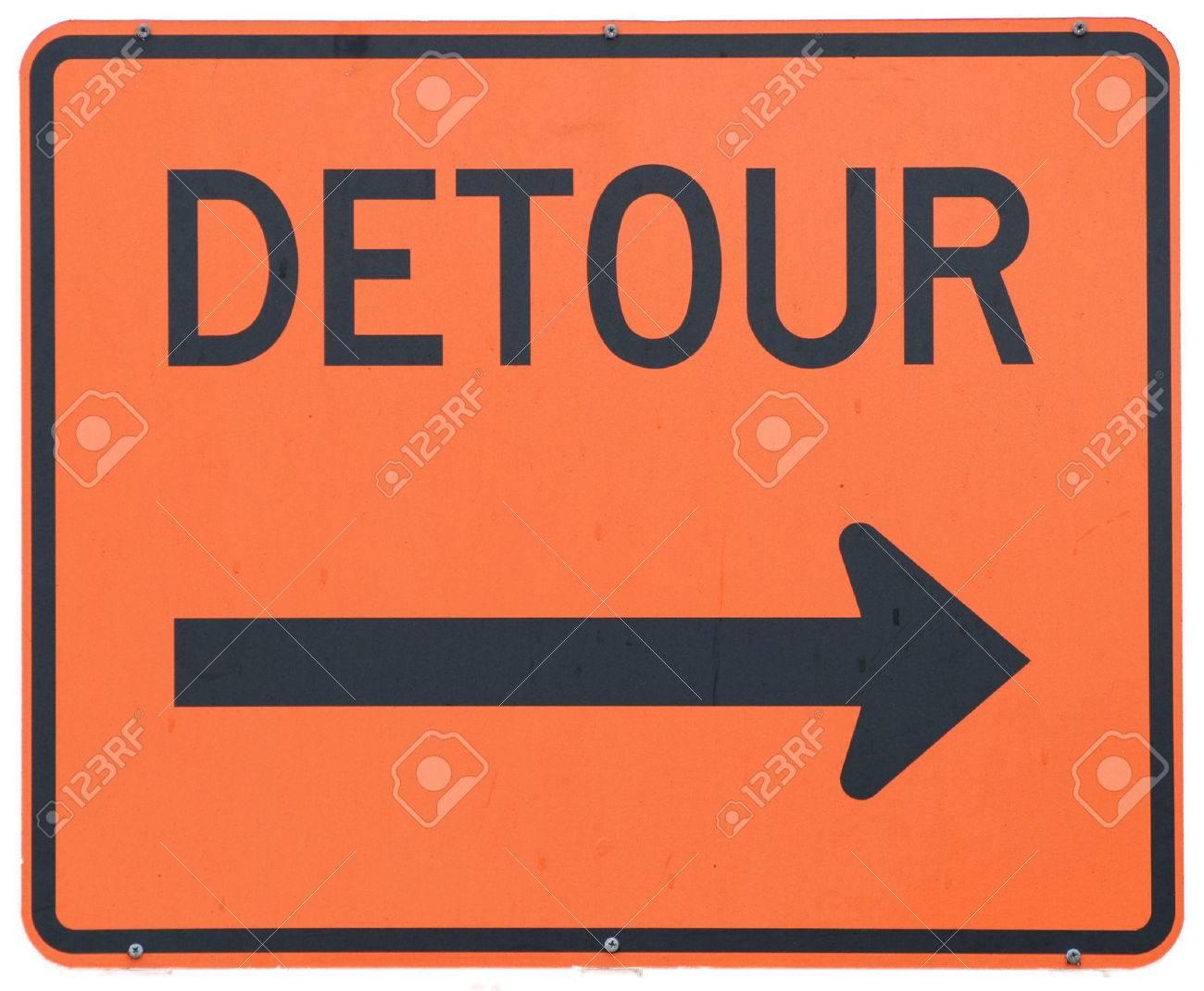 Detour Right road sign Stock Photo - 1439617