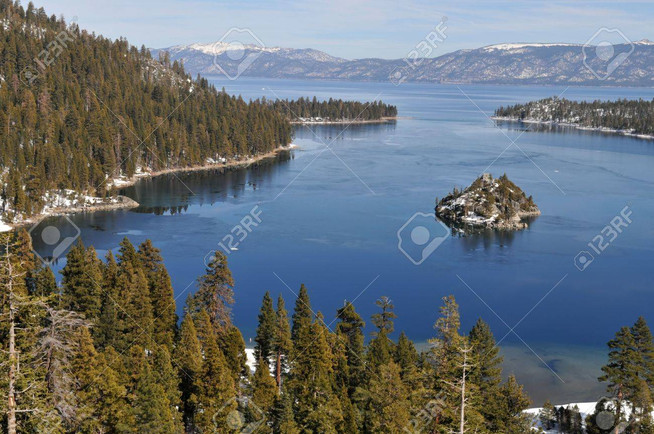 Fannette Island in Emerald Bay, South Lake Tahoe, California Stock Photo - 2571102