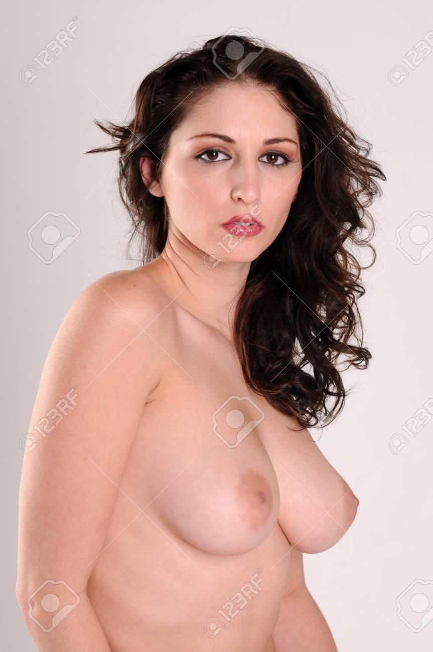 Beautiful brunette posing nude Stock Photo - 4341573