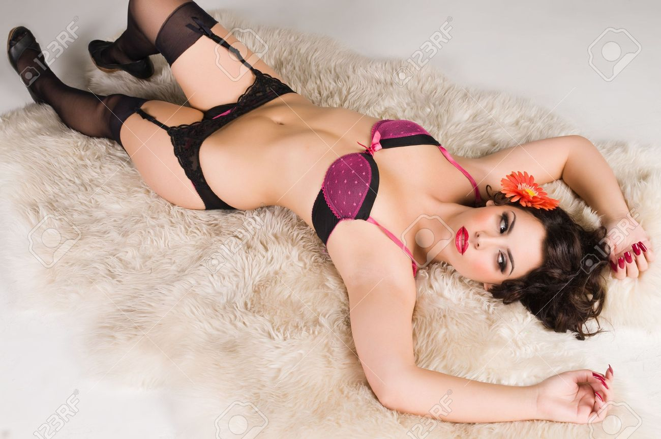 102968f1615 Pretty Native American girl dressed in lingerie Stock Photo - 6076079