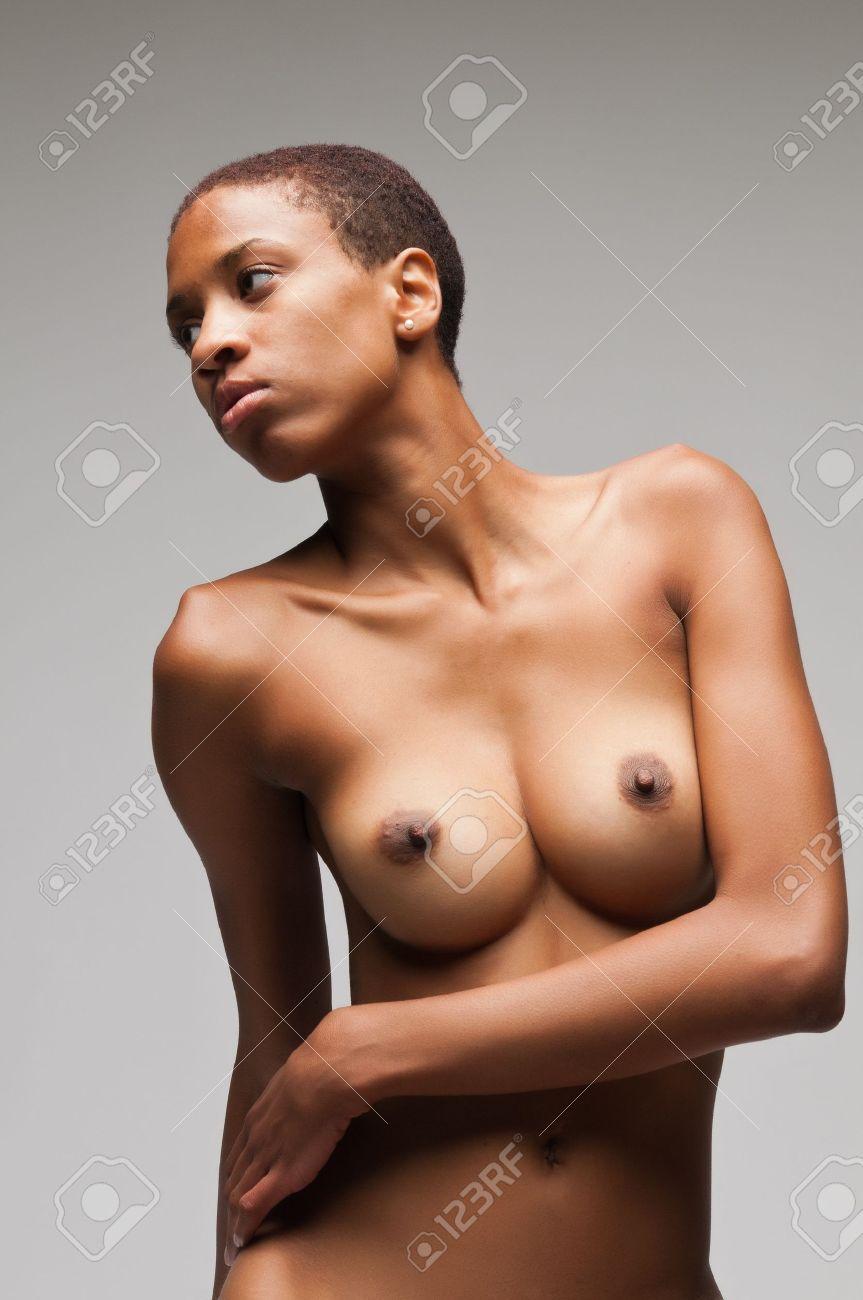 cute slendar ebony nude