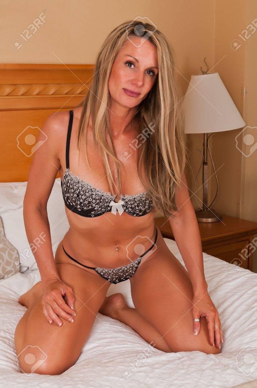 Mature Blonde Lingerie