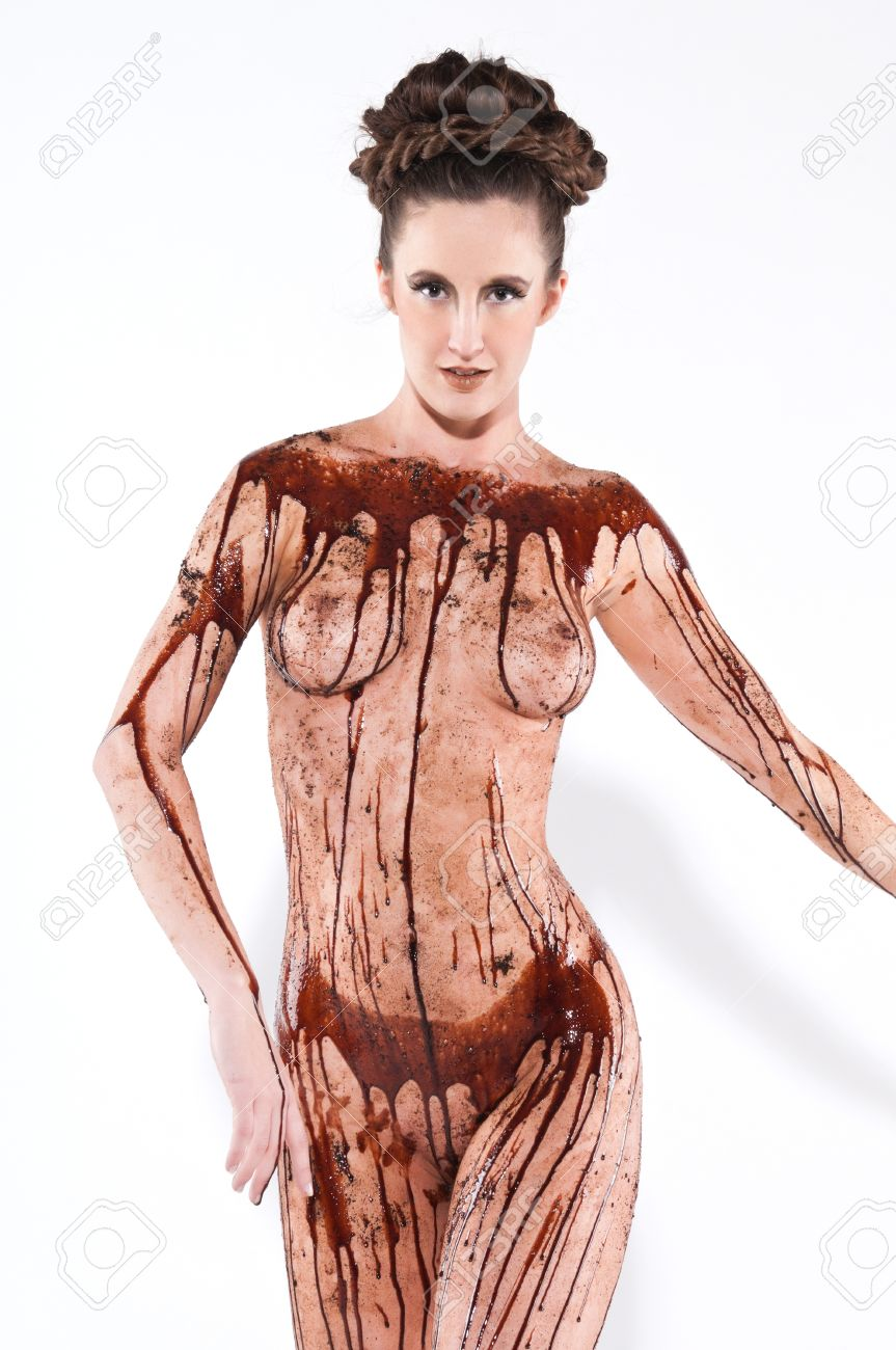 Naked chocolate cover women picture