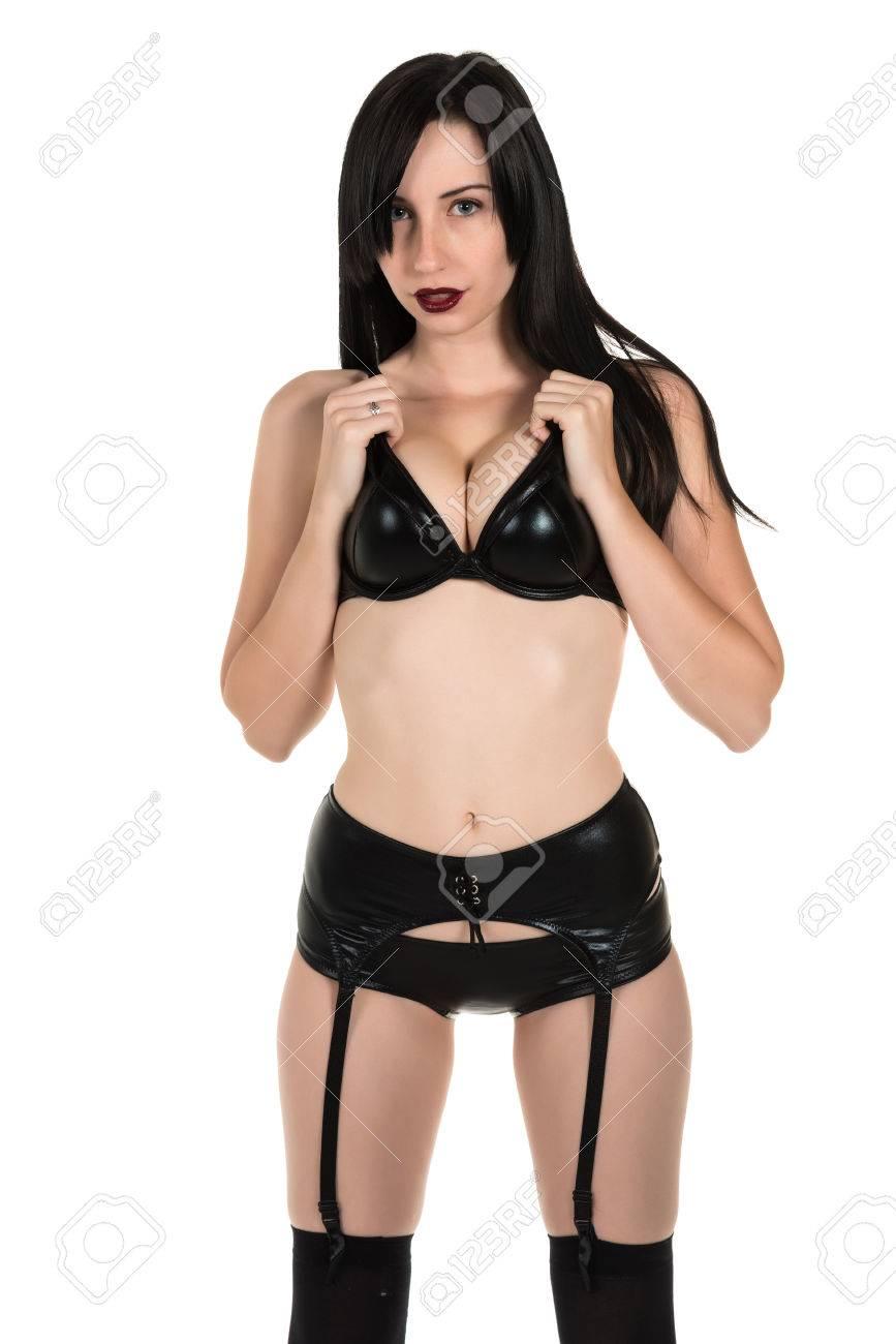 Girl in black lingerie, huge boob porn stars