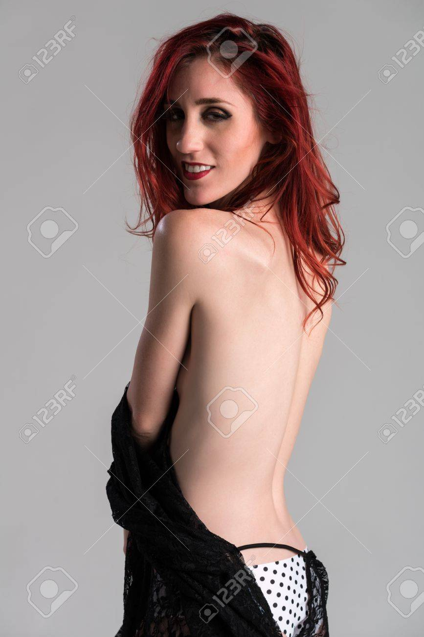 Slender redhead wife