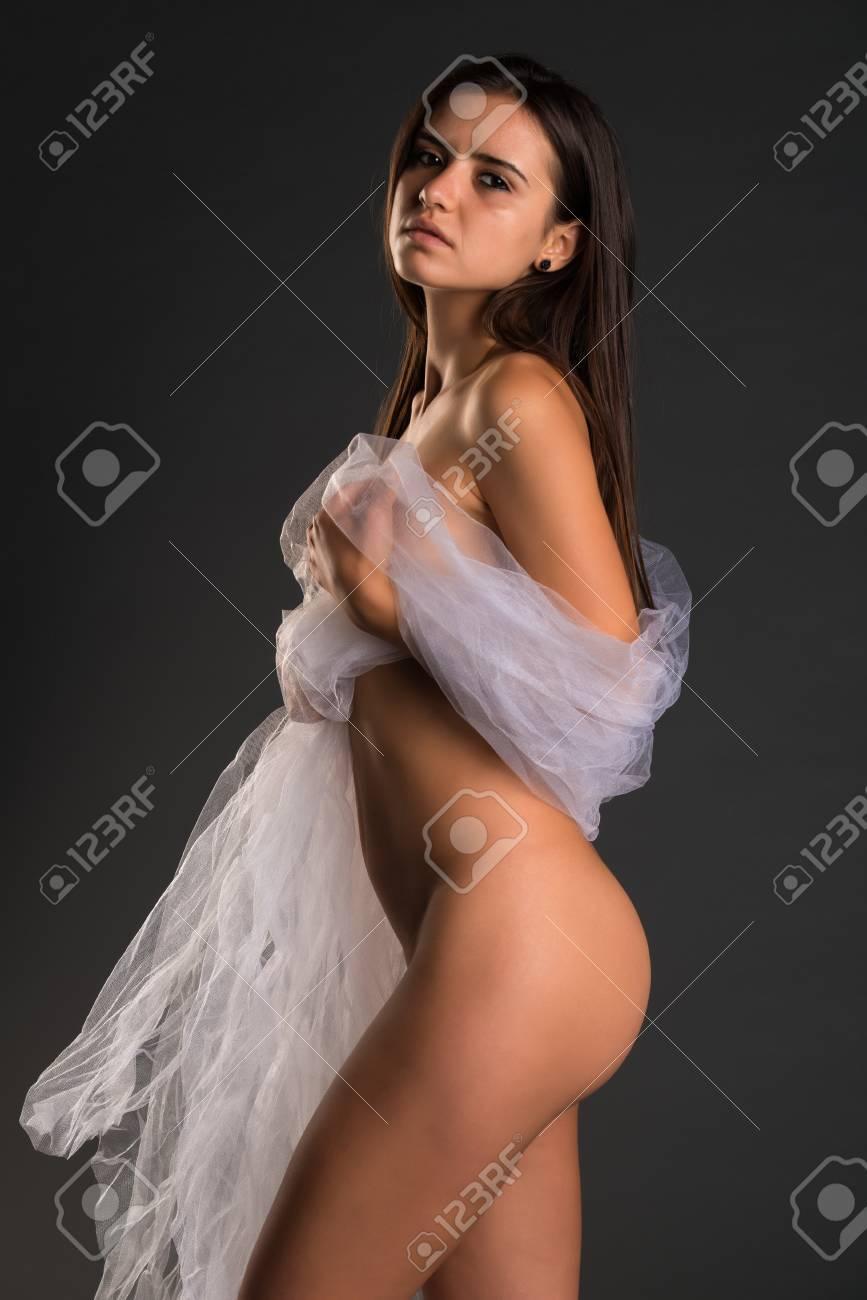 standing nude model