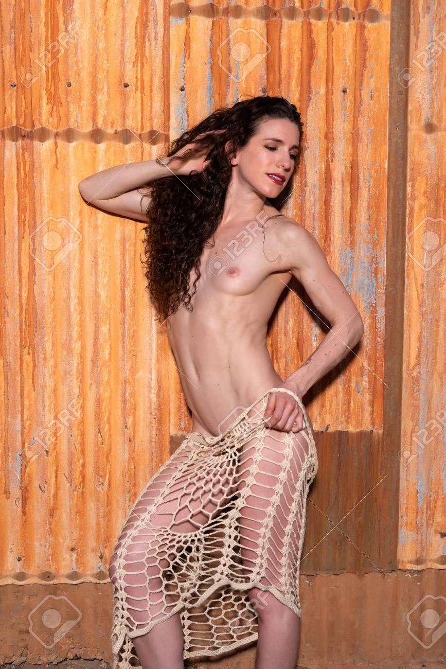 Nude girl butt in public