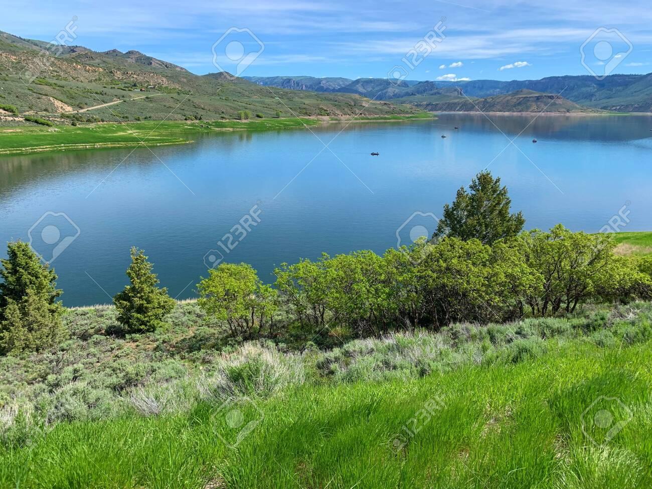Blue Mesa Reservoir on the Gunnison River, Gunnison, Colorado - 125193121