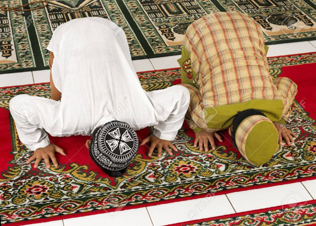 Image result for muslim child praying at school