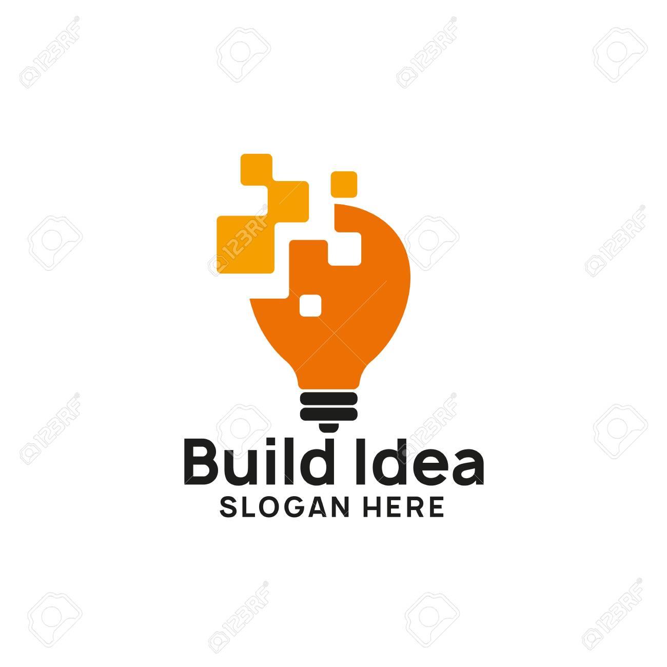 creative idea logo design template. bulb icon symbol designs - 117595401