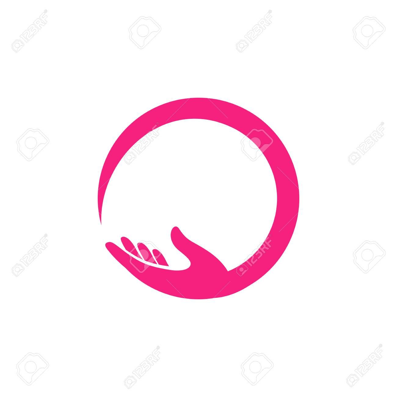 hand care logo design template. hand care vector icon illustration - 117628555