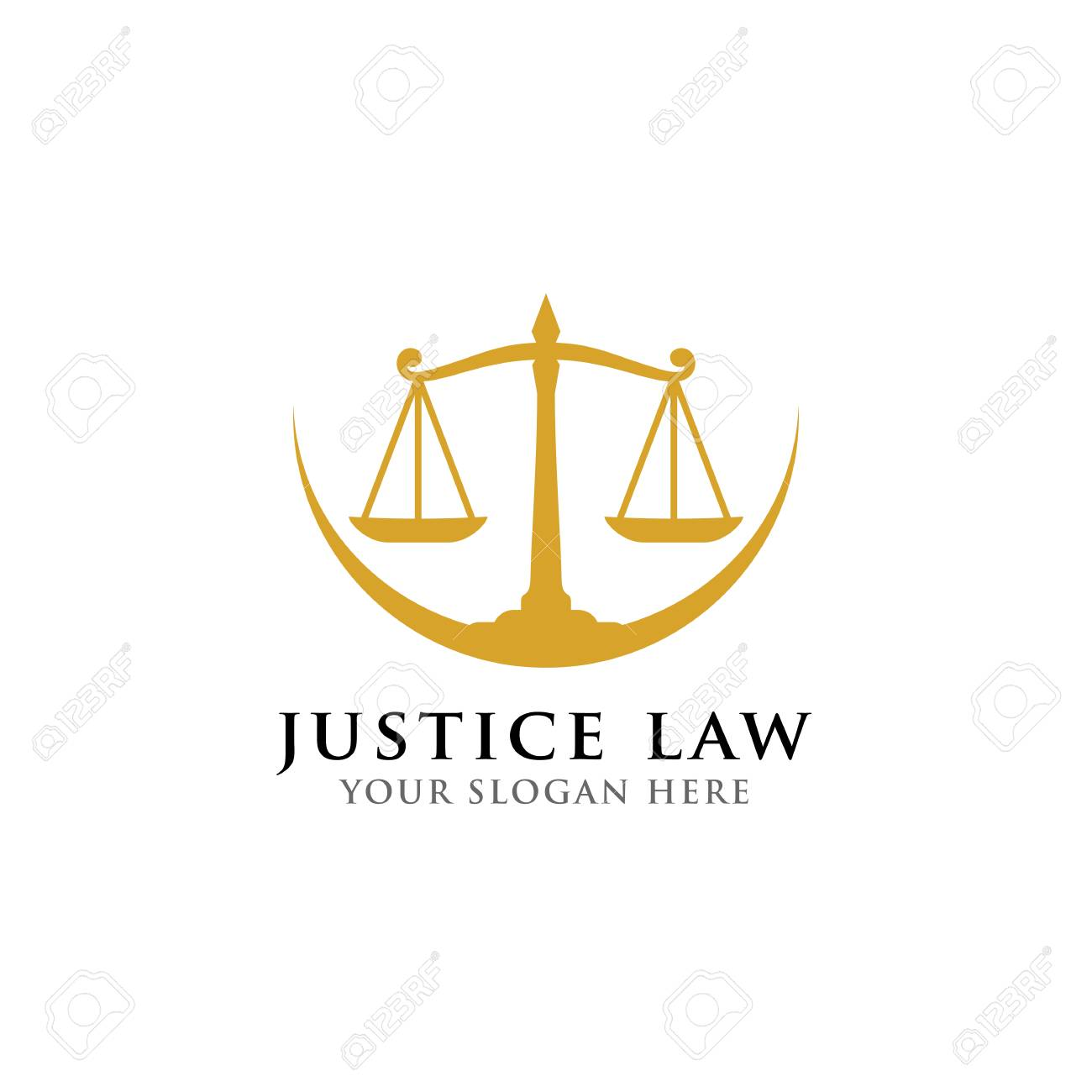 scales vector illustration  attorney logo vector design  justice