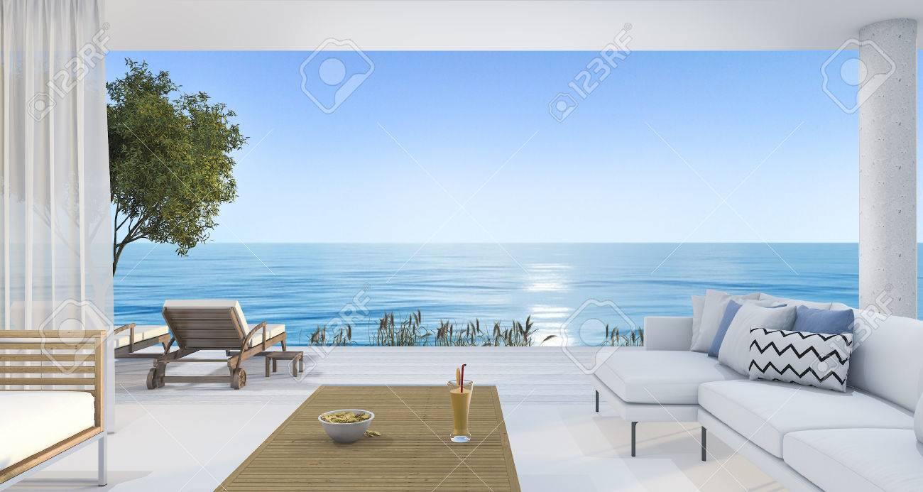 3d Rendering Zeitgenossischen Schonen Wohnzimmer In Der Nahe Von