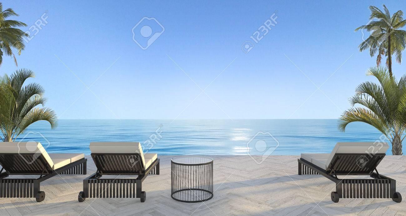 Außergewöhnlich Hängendes Bett Referenz Von 3d-rendering Im Freien Strand In Der Villa