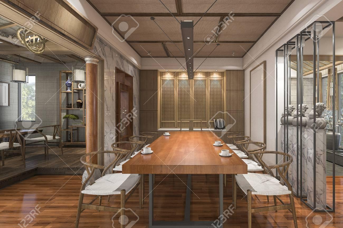 Fesselnde Schöne Einrichtung Galerie Von 3d-rendering Schöne Chinesische Traditionelle Stil Zimmer Mit