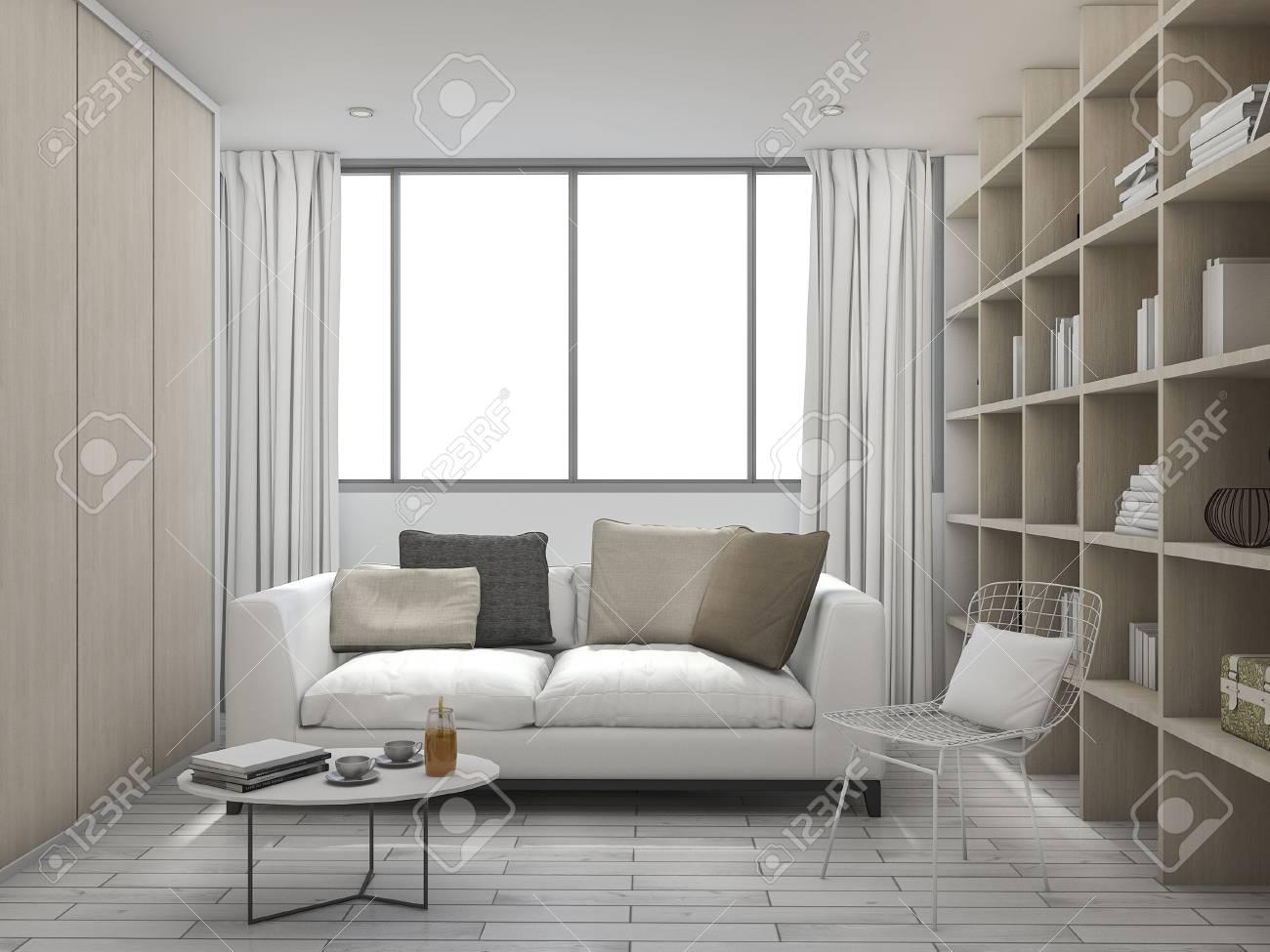 Kissen Wohnzimmer.Stock Photo