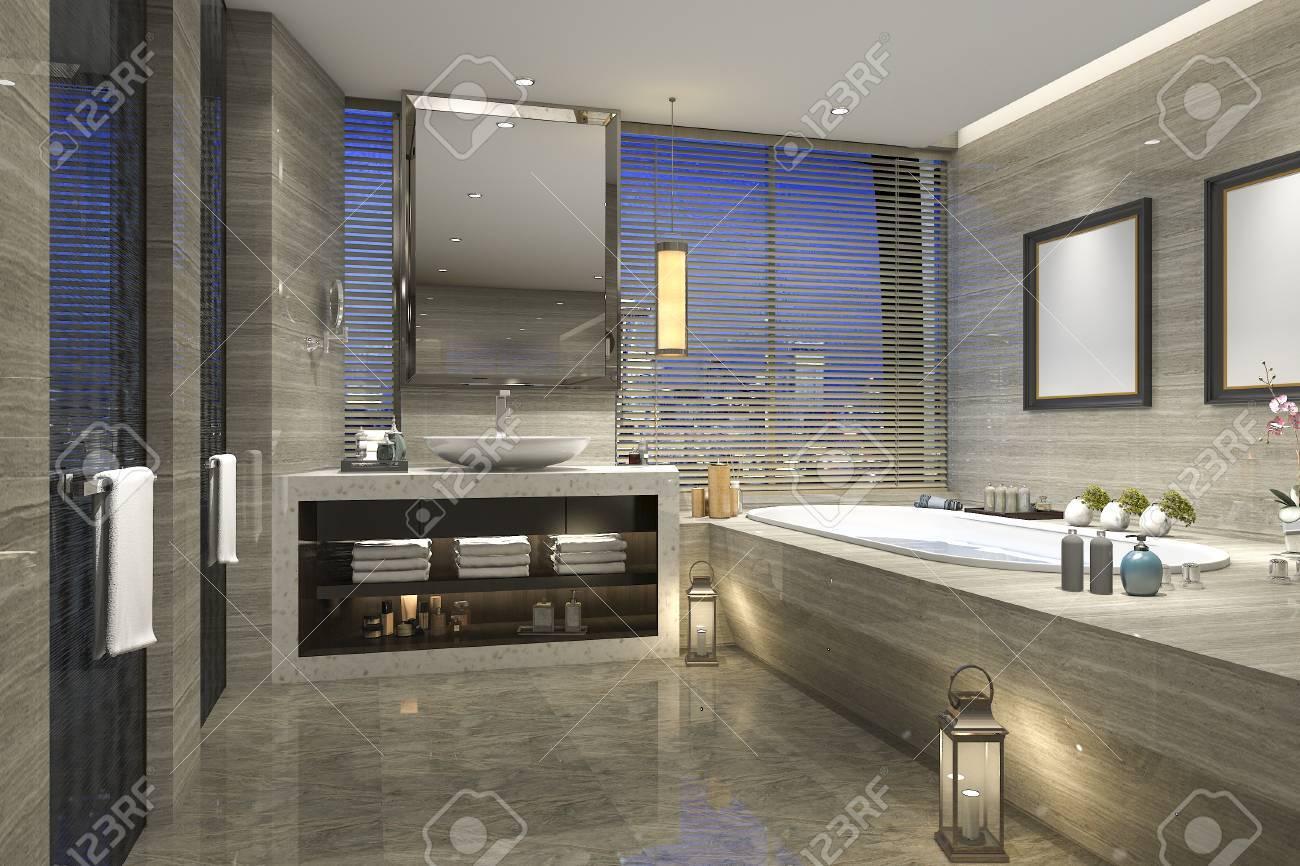 Salle de bain à visionneuse 3D avec design de luxe moderne