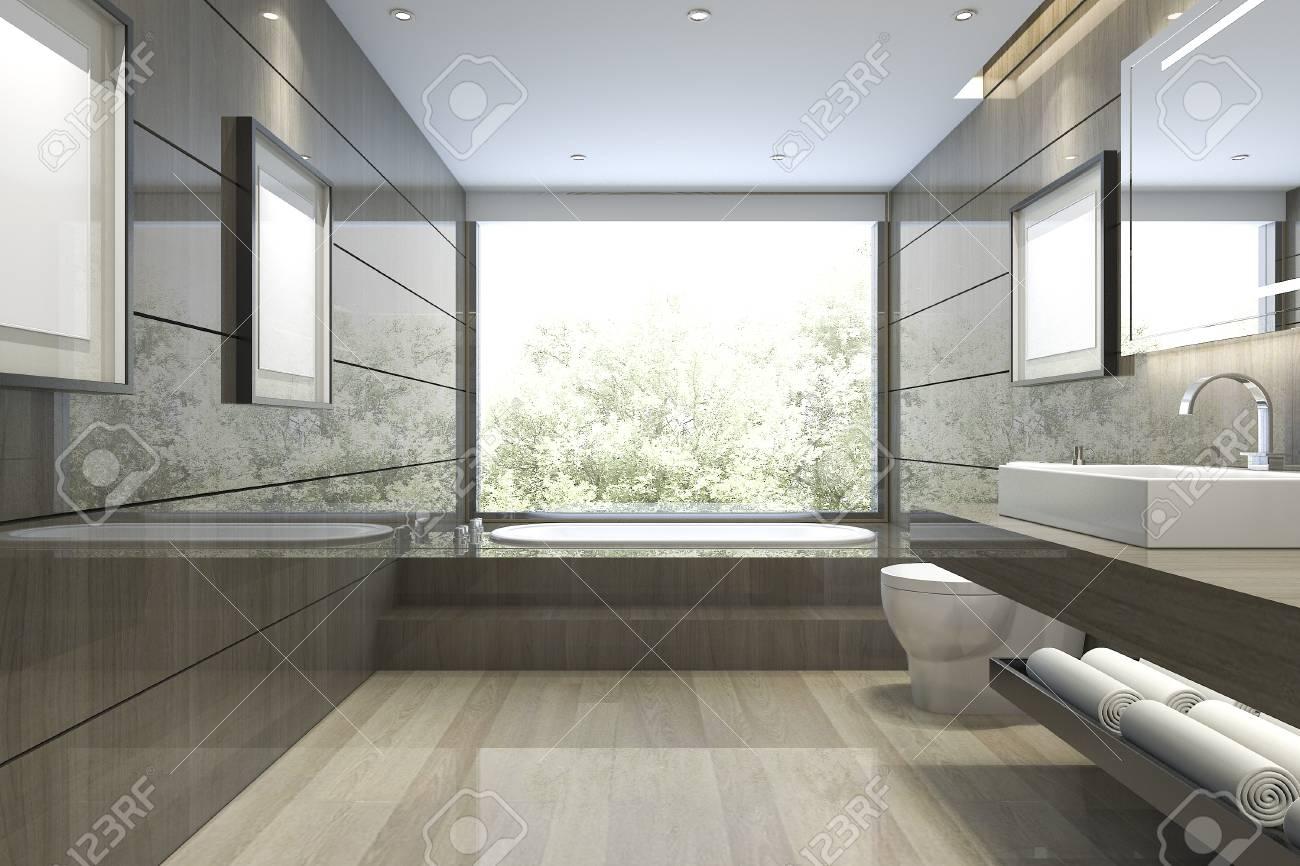 Globe Luminaire Salle De Bain ~ salle de bain classique moderne avec d cor de carreaux de luxe avec