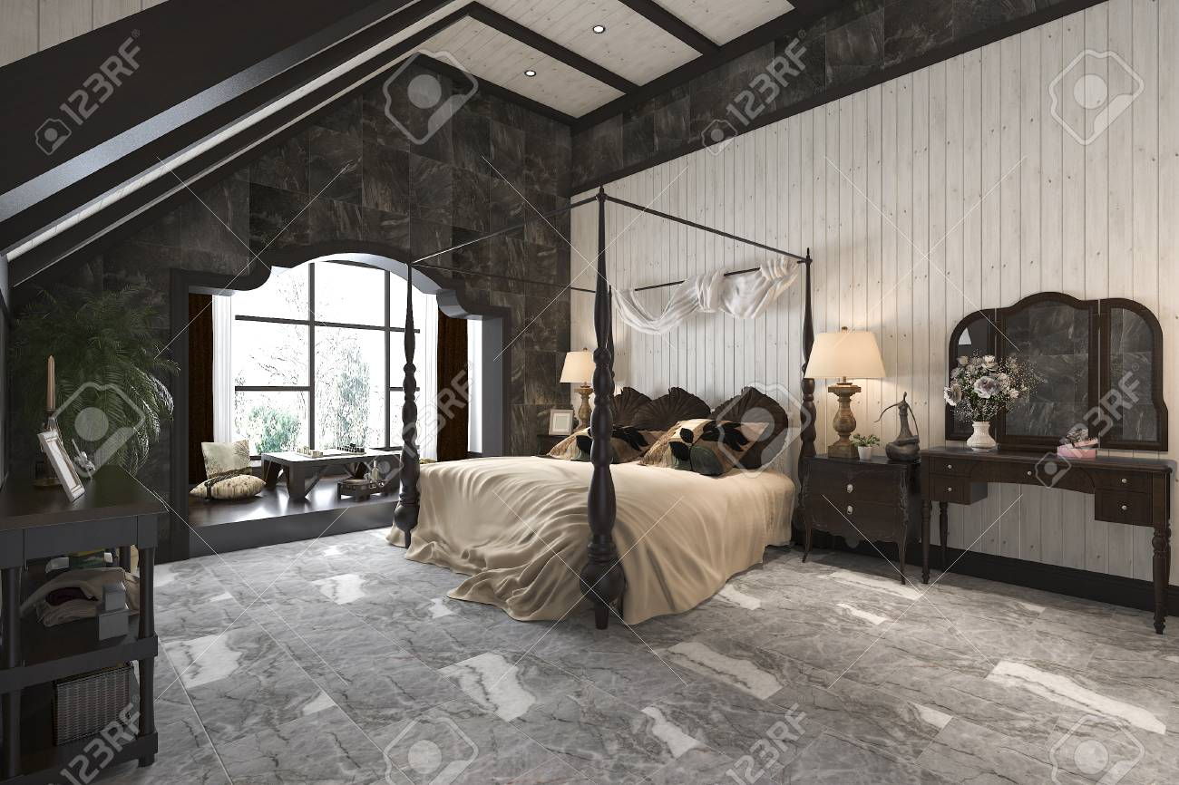 Rendu 3d Luxe Moderne Chambre à Coucher Moderne Suite Dans L\'hôtel ...