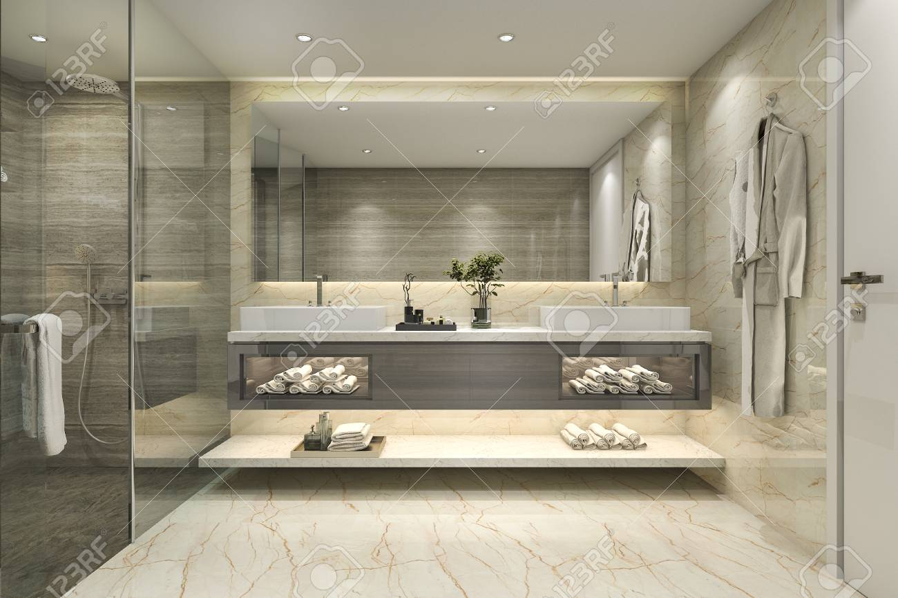 Globe Luminaire Salle De Bain ~ salle de bains classique moderne offrant un d cor de carrelage de