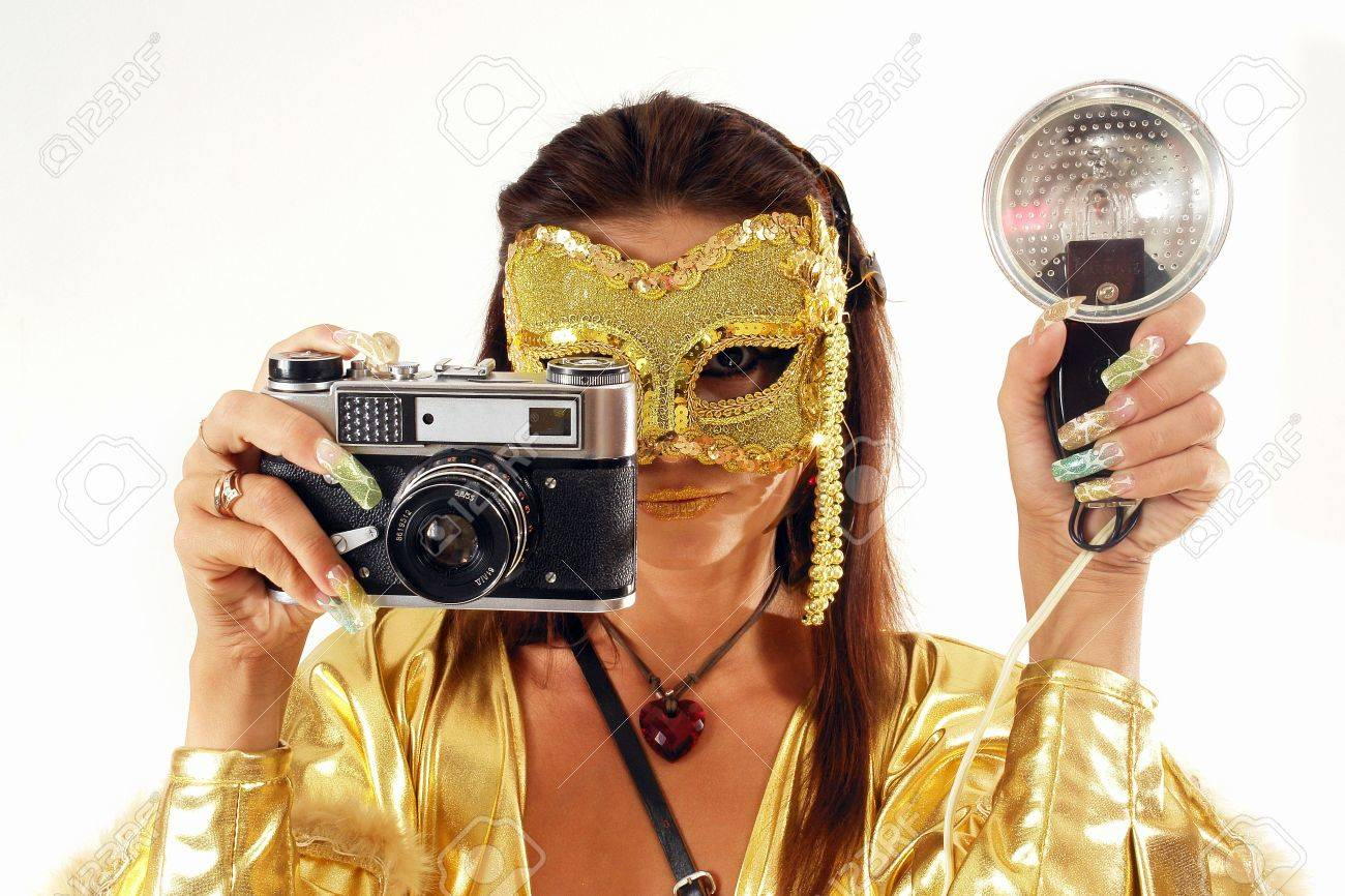 Sexy Photographer Is Taking Pictures The Model In The Studio Stock Photo    Image           Acclaim Images