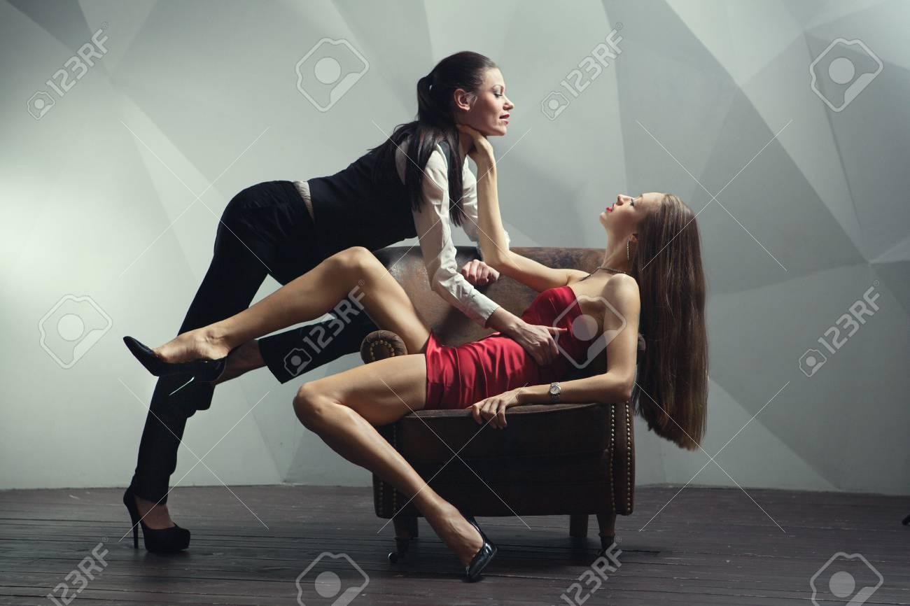 Lesbian on chair