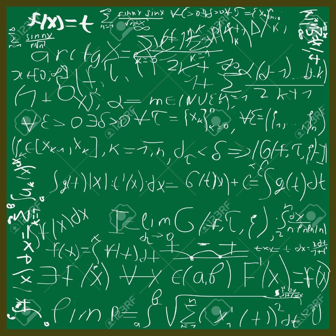 illustration of math background Stock Vector - 7930075