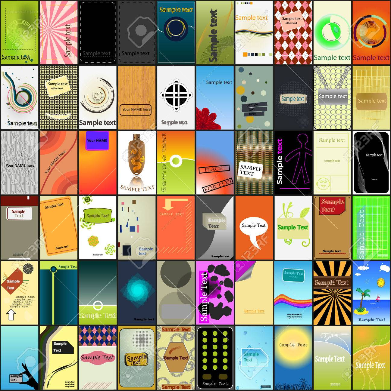 A Largest Collection Of Various Business Card Designs Royalty Free ...