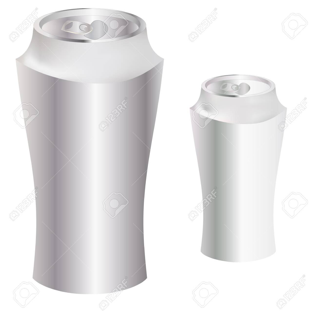 Blank Metal Can Stock Vector - 8413243