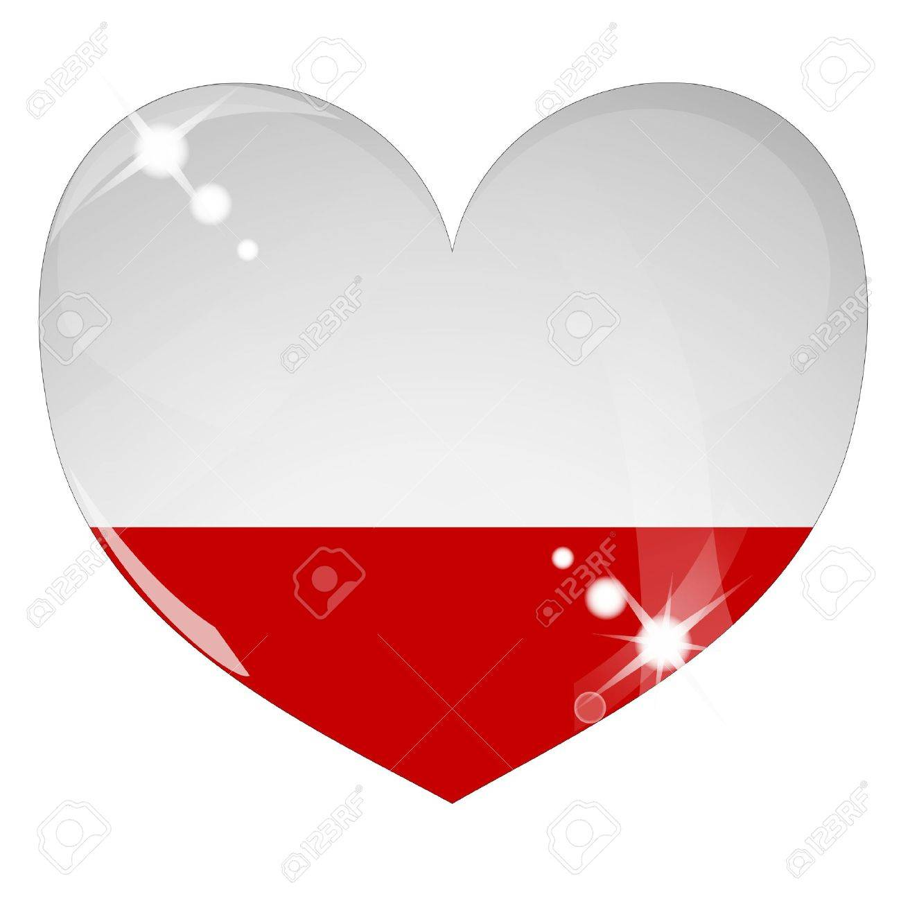 Vector heart with Poland flag texture - 8503230