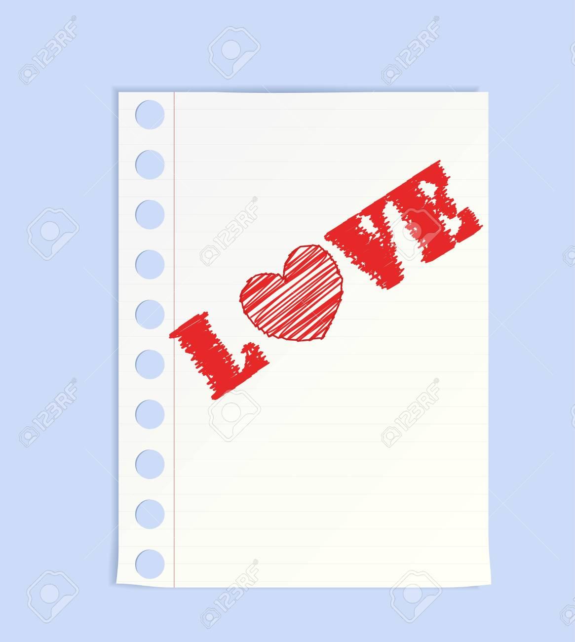 Big pencil drew a heart Stock Vector - 8570621