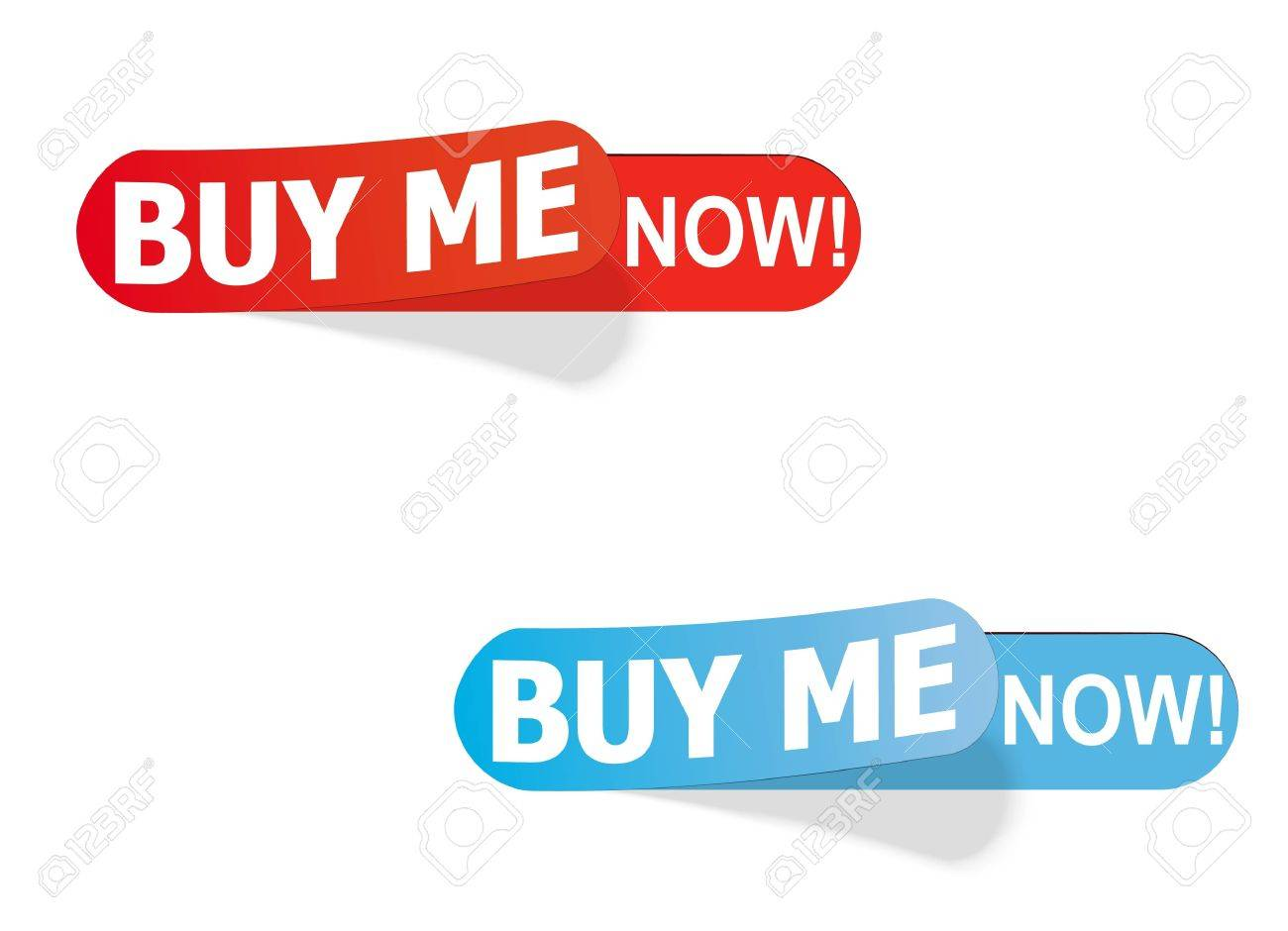 color labels with the inscription buy me now! Stock Vector - 8783733