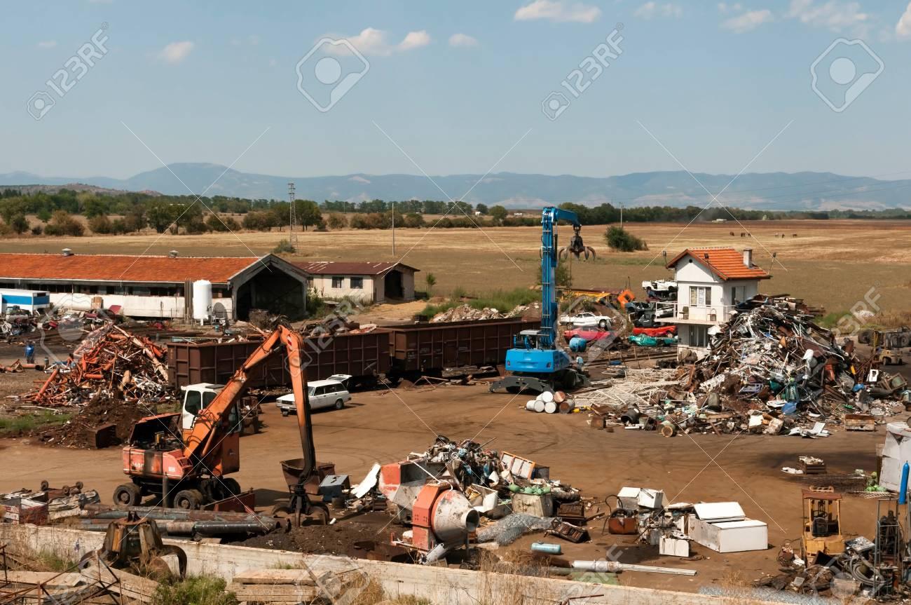 Depot for scrap metal Stock Photo - 14857761